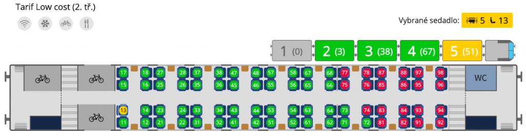 Plánek vozu RJ Bmpz 20-73