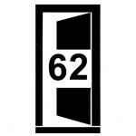 Dveře šířky 62 cm