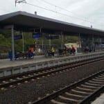 Karlovy Vary, nástupiště u 3.koleje