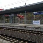 Karlovy Vary ostrovní nástupiště