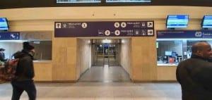 Přístup na 1.nástupiště v Brně na hlavním nádraží