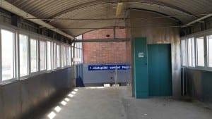 Footbridge in Ostrava Kuncice train station
