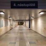 Severní podchod pod brněnským hlavním nádražím.