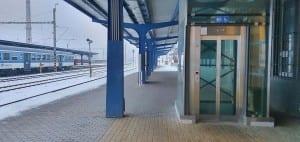 Nástupiště na nádraží Žďár n. Sázavou
