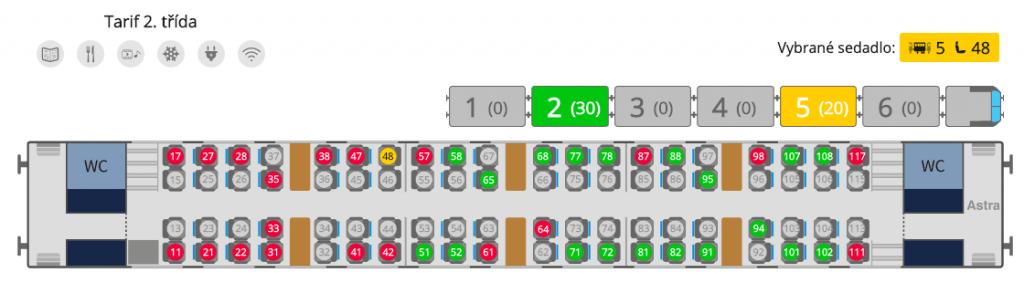 Plánek uspořádání vozu Bmpz 20-90