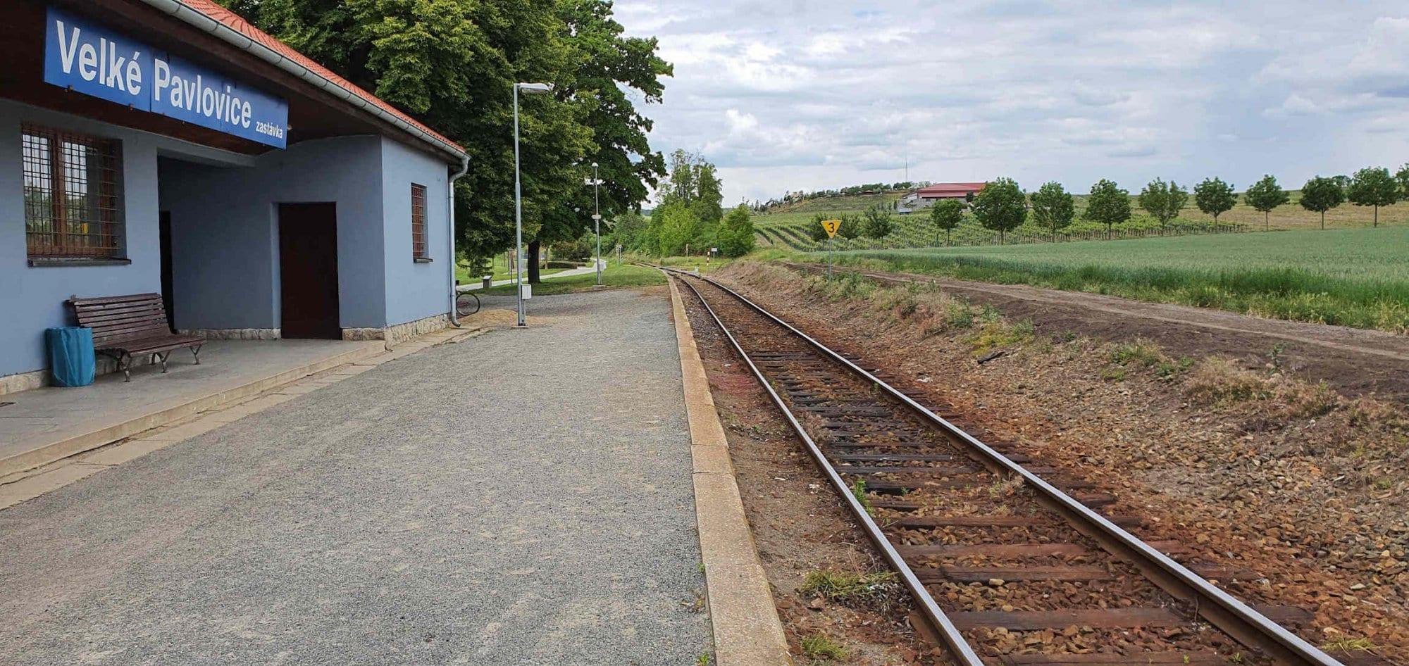 Train station Velke Pavlovice zastavka