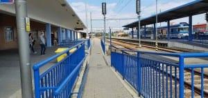 Přístup na druhé nástupiště ve Znojmě