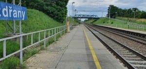 Pouzdřany - nástupiště u 2.koleje