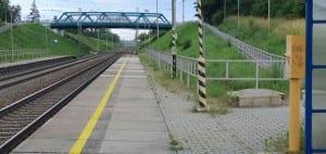 Pouzdřany - nástupiště u 1.koleje.