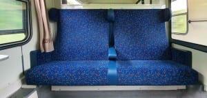 Sedadla ve voze AB 349