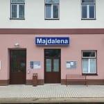 Popis a foto nádraží Majdalena