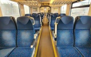 Sedadla ve voze RegioPanter 641