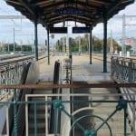 Nástupiště v Plzni na nádraží