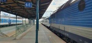6.nástupiště v Plzni na hlavním nádraží