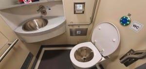 Arriva 945 záchod