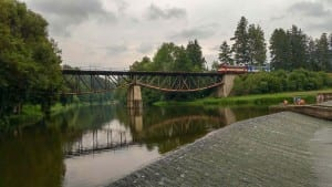 Železniční most u obce Březina