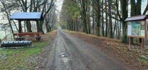 Na hrázi u obce Sobíňov
