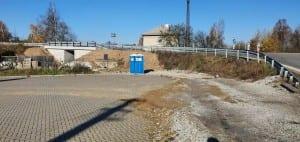 Parkoviště u nádraží v Osové Bítýšce