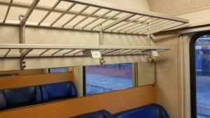 Místa k sezení ve 2.třídy vozu ABmz 346