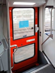Dveře vozu Arriva 928