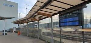 Zastávky MHD u vlakového nádraží v Havlíčkově Brodě