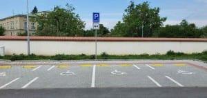 Parkoviště v Židlochovicích