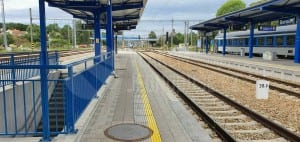 Beroun, nástupiště u 6. koleje