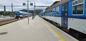 Nádraží Beroun, nástupiště u 7. koleje