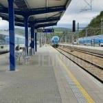 V Berouně na nádraží