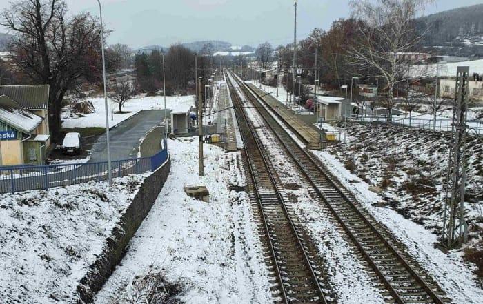 Zastávka Česká na trati Brno - Tišnov
