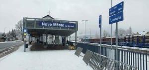 Autobus u nádraží v Novém Městě na Moravě