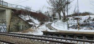 Kudy na vlak Popovice u Rajhradu