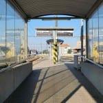 Nástupiště na nádraží v Šumperku