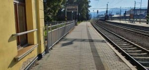 První nástupiště v Šumperku na nádraží