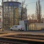 1. nástupiště v Poděbradech