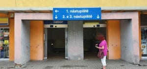 Podchod na nádraží v Táboře