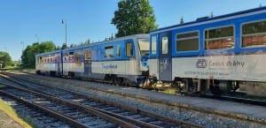 V Třeboni na vlak