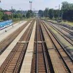 Pěší lávka na nádraží v Kojetíně