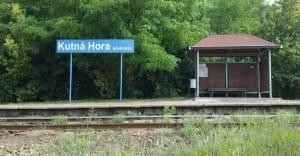 Kutná Hora předměstí vlakem