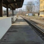 Nástupiště na nádraží v Pohledu