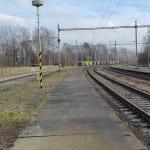 1. nástupiště na nádraží v Pohledu