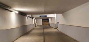 Podchod v Přibyslavi na nádraží
