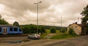 Slavičín parkování na nádraží