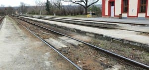 Přístup na vlak v Moravských Bránicích