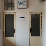 Záchody na nádraží Ostrov nad Oslavou