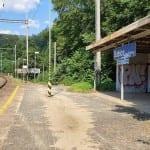 Přístřešky na nádraží v Babicích nad Svitavou
