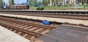2. nástupiště v Hodoníně na nádraží