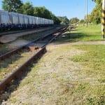Přístup na vlak v Lomnici nad Lužnicí