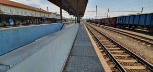 Otrokovice vlakem na 2. nástupiště