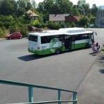 Autobus Pržno, žel. stanice